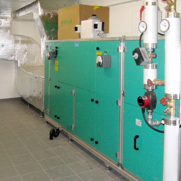 Schulanlage Kirchmatt Zug Lüftung | H5Haustechnik