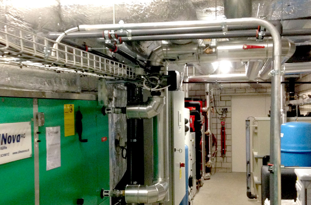 Umbau Artherstrasse Zug Technikraum | H5Haustechnik